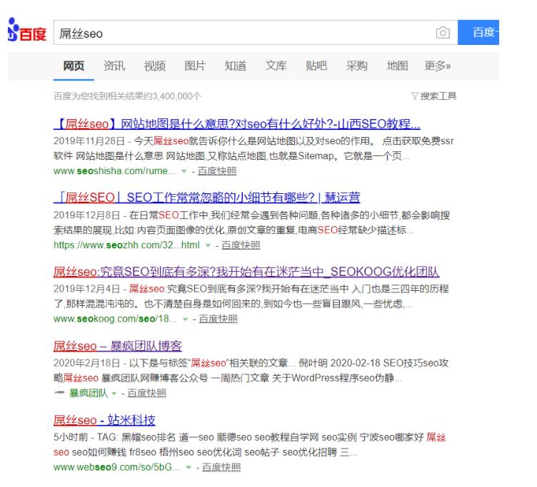 屌丝seo网站排名