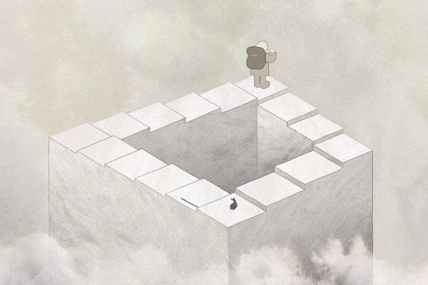 彭罗斯阶梯是什么,彭罗斯阶梯是真实存在吗?永远也走不到头的楼梯(视错觉)