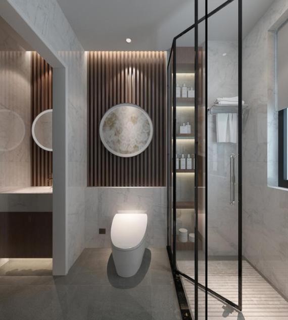 卫生间装修效果图,卫生间瓷砖颜色搭配图