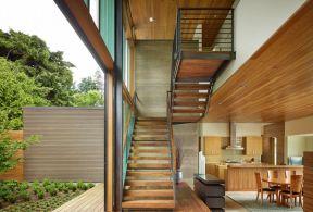 风格实木楼梯图片