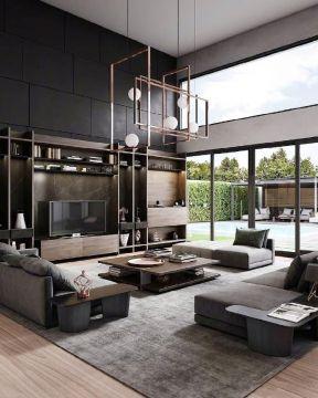 复式客厅装修设计图片 复式客厅装饰效果图 客厅电视柜效果图欣赏