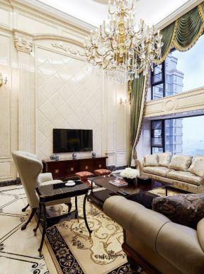 欧式复式客厅装修效果图 顶层复式楼装修