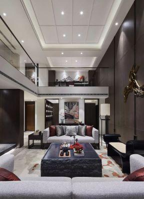 中式客厅装潢设计效果图 复式楼客厅装饰效果图
