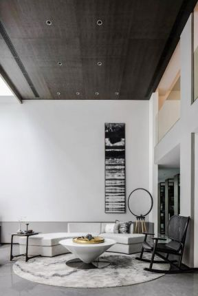 新中式复式楼装修 新中式复式客厅 新中式复式装修设计