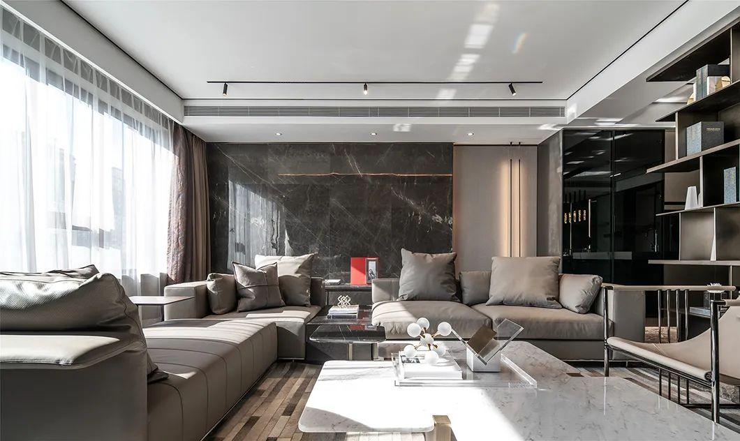 贵阳室内设计师邢远鹏分享:高级灰+红,彰显时尚个性的黑白灰!